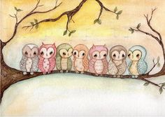 'Owls' by Kelly Ann of thepoppytree