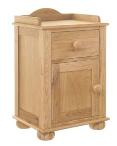 Amelie Oak Bedside Cabinet (one door one drawer) - CCO10A