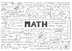 Hand drawn Math formulas for background royalty-free stock vector art