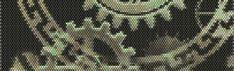 Steampunk Watch Gears Peyote Cuff Beaded by RubyDsArtandJewelry, $6.99