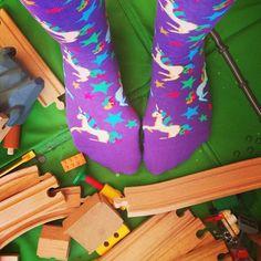 Colorful unicorn magic. Fits a women's shoe size 5-10.