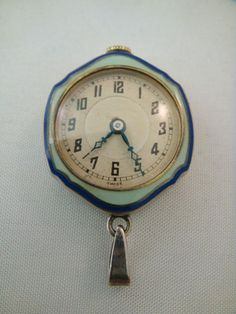 Awesome and Unique German Enamel & Sterling Silver Ball Watch - made by Speck