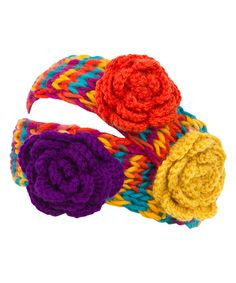 This Yellow & Red Marled Floral Head Wrap by Magid is perfect! #zulilyfinds