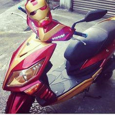 Spotted: Iron man scooter