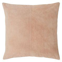 SUEDA Nude pink suede cushion 50 x 50cm | Buy now at Habitat UK