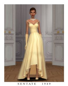 Look 8 - The Charlotte Dress This dress was... : S E N T A T E Sims 4 Mm Cc, Sims Four, Maxis, Sims 4 Mods Clothes, Sims 4 Clothing, Sims 4 Collections, Pelo Sims, Charlotte Dress, Sims 4 Teen