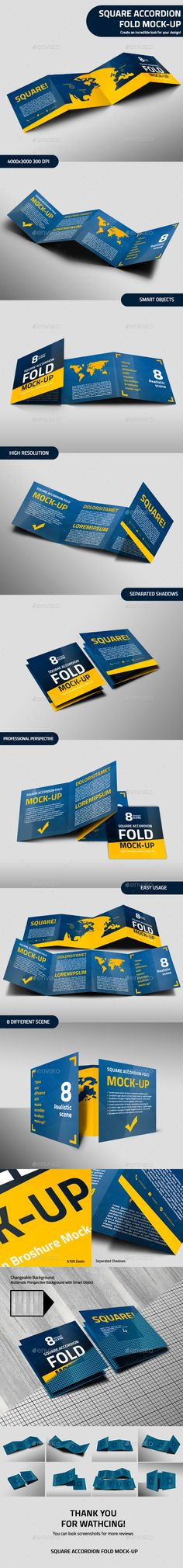 Hexagon Fold Out Style Brochure Pinterest Brochures Photoshop