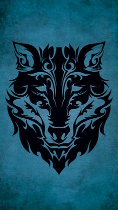Tribal Wolf iPhone 6 Wallpaper (750x1334)