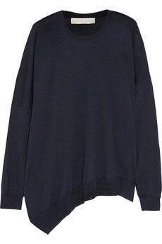 Stella McCartney Asymmetric wool and silk-blend sweater | NET-A-PORTER
