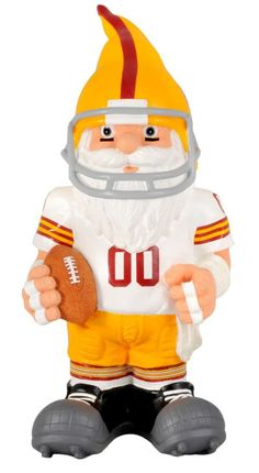 "Washington Redskins Garden Gnome - 11"" Throwback"