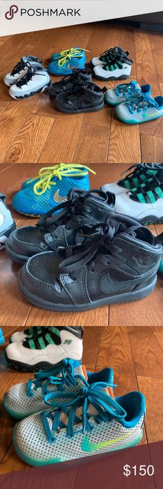 5e49171a2 Baby boy Jordan s and Nikes Lot All different sizes from 5-7C and used  condition