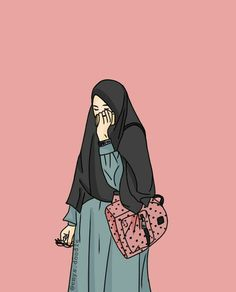 Gambar Kartun Muslimah Bercadar Bertopi Art Di 2019 Anime Muslim
