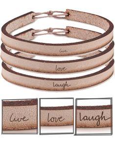 leather bracelets by Laurel Denise Smith