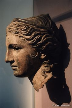 Anahita Goddess | jpg - 8333: Head from a bronze cult statue of Anahita, a local goddess ...