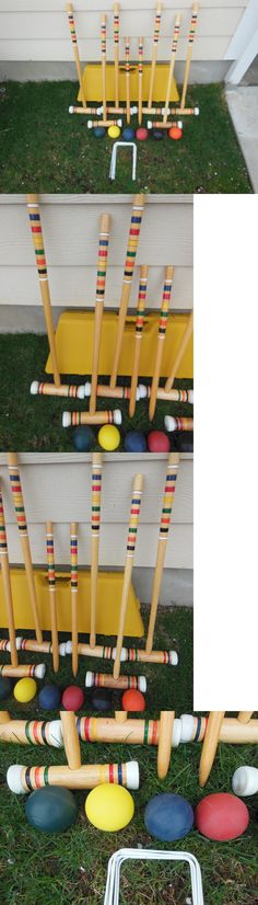 Croquet 117210: Croquet Set-Spalding-6 Player-Standard Size-Hard Carrying Storage Case-Excellent -> BUY IT NOW ONLY: $62.3 on eBay!