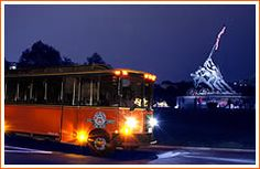 Monuments by moonlight night tour aboard an old town trolley 7:30-10:00pm nightly from Union Station (Reservations required) $35