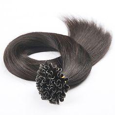 "18""20""22""Brazilian Virgin Hair Keratin U Nail Tip Straight Human Hair Extensions Pre-bonded Hair Extension 4983630 2016 – $26.00"