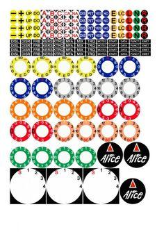 Version One Button Box for Simracing Racing Seats, Racing Wheel, F1 Racing, Ayrton Senna Helmet, Racing Simulator, Sticker Bomb, Acrylic Sheets, Auto Service, Covered Boxes