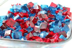 Pin for Later: From Sweet Stars to Patriotic Pops — 33 Desserts For Fourth of July Red, White, and Blue Jell-O Simple yet fun, a platter full of red, white, and blue Jell-O is a refreshing finish to a Fourth of July barbecue! Source: Gimme Some Oven