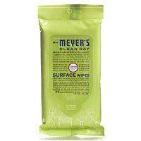 Mrs Meyers Clean Day Pre-Moistened Surface Wipes Lemon Verbena, Lemon Verbena 24 CT (Pack of 3) Mrs. Meyers