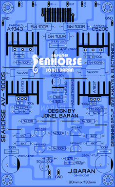 SEAHORSE AV-1000S Electronic Schematics, Electronic Kits, Electronic Circuit, Diy Amplifier, Class D Amplifier, Diy Electronics, Electronics Projects, Radios, Receptor