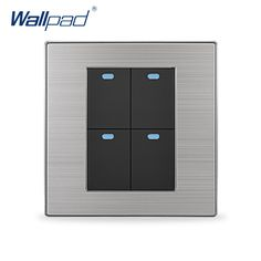 2018 Hot Sale 4 Gang 2 Way Wallpad Luxury LED Wall Light Switch Push Button Switches Interrupteur 10A AC 110~250V. Yesterday's price: US $13.62 (11.05 EUR). Today's price: US $8.17 (6.67 EUR). Discount: 40%.