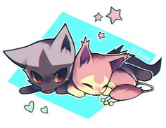 Poochyena and Skitty by foxlett on DeviantArt Pokemon Team, Pokemon Fan Art, Pokemon Skitty, Cat Pokemon, Pokemon Pins, Pokemon Memes, Pikachu, Pokemon Stuff, Deviantart Pokemon