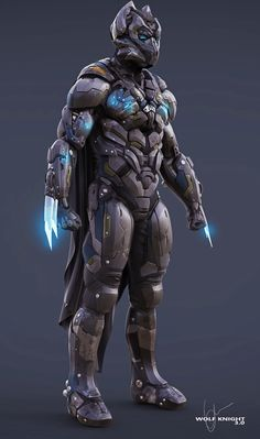 Wolf Knight 3.0 by Richie Mason | Robotic/Cyborg | 2D | CGSociety