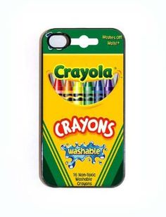 iPhone 4 4s Case Crayola Crayon Box Case Comes in by KustomCases
