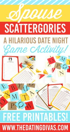 Spouse Scattergories Date Night Game