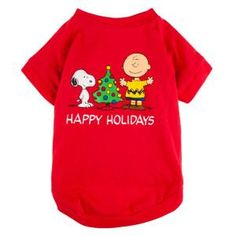Peanuts® PetHoliday™ Holiday Tee - Clothing & Accessories - Dog - PetSmart