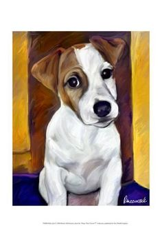 Jack Russell Terrier Smooth Dog Robert May Art Greeting Card Set of 6