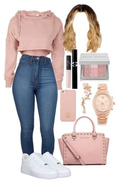 """Untitled #35"" by yaritzaj ❤ liked on Polyvore featuring NIKE, MICHAEL Michael Kors, Tory Burch, NARS Cosmetics, Sisley Paris, Bobbi Brown Cosmetics and Michael Kors"