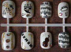 Japanese Nail Art- The Sound of Music - pinnerman Glue On Nails, My Nails, Glam Nails, Bling Nails, Japanese Nail Art, Nail Supply, Celebration Quotes, Artificial Nails, Acrylic Nails