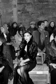 Rebecca Wang attends Chanel's Metiers d'Art fashion show at Linlithgow Palace