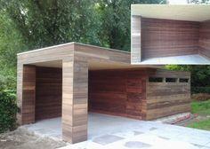 Moderne of klassieke houten poolhouses of bijgebouwen