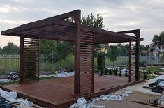 DESIGNERSKA NOWOCZESNA ALTANA ALTANKA WIATA GRILL - 7092561829 - oficjalne archiwum Allegro Modern Gazebo, Backyard Pavilion, Outdoor Dining, Jacuzzi, Pergola, Outdoor Structures, Patio, Landscape, Gardening