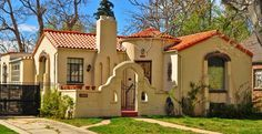 Spanish Revival style cottage