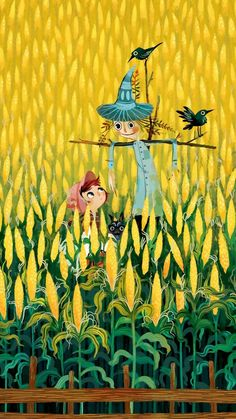 In the corn field
