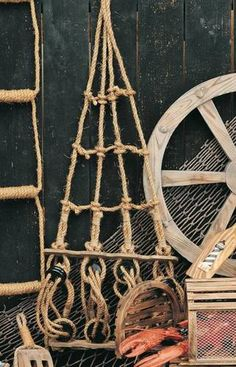 """Rope Ladder Pirate Ships Crows Nest 45"""" New Nautical Home Decor 