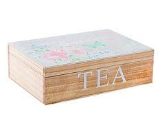 Caja para infusiones en madera Mariposas II