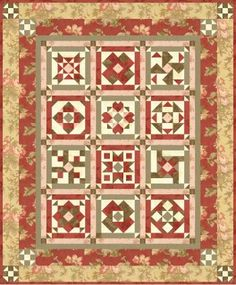 Sentimental Journey Block of the Month Quilt - 2010 - Free Pattern from Block Central - Amazing quilt!!
