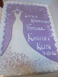 bridal shower cake Cake Ideas Instructions Pinterest Bridal