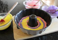 This cake is so fun to bake that you will want to make it your own and get creative with different colors!