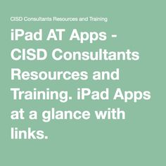 Our favorite iPad apps for struggling middle school and high school students. Calhoun ISD AT Consultants.