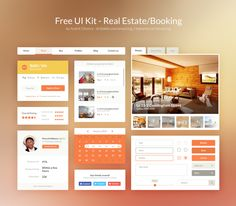 Free UI Kit PSD – Real Estate/Booking