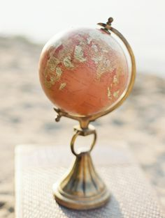Vintage globe | Crystal and Crates Vintage Rentals has several different ones.