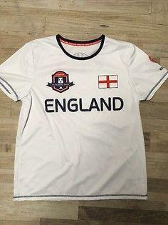 England UEFA EURO 2016 White Football Shirt Soccer Size Large | eBay