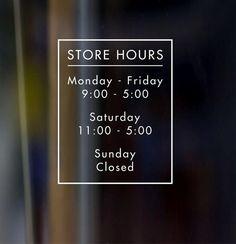 For the door (:  https://www.etsy.com/listing/235563110/custom-vinyl-decal-door-store-business