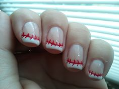 ☭❈✿░ Baseball French Tips at French Tip Dip